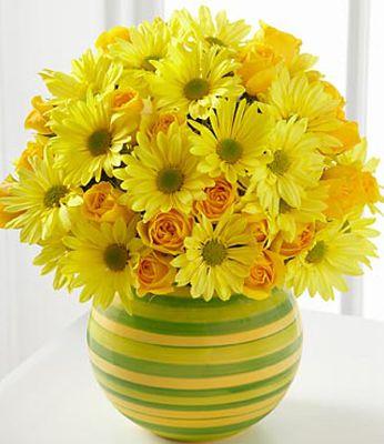 fiori gialli vaso
